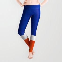 Colorful Bright Minimalist Rothko Orange And Blue Midcentury Modern Art Vintage Pop Art Leggings