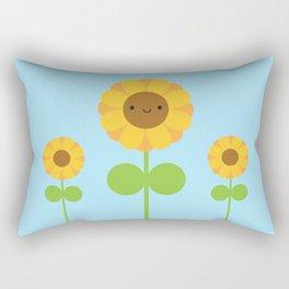 Kawaii Sunflower Rectangular Pillow