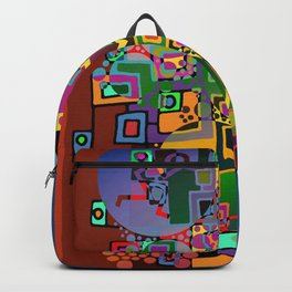 Cubism Modern Art - Dancing In The City 1 Backpack