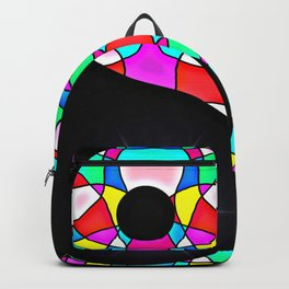 Stained Glass Yin And Yang Backpack