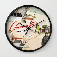 community Wall Clocks featuring Community by Heather Landis