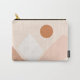 Warm Neutral mountain sun Carry-All Pouch
