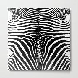 Zebra Stripes Print Metal Print