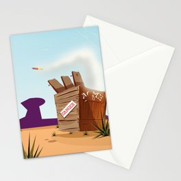 acme rocket crate Stationery Cards