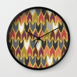saffron pepper arrows Wall Clock