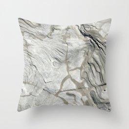 Bay of Fundy Rock No.1   Texture   Nadia Bonello   Canada Throw Pillow