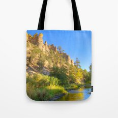 River and Cliffs Tote Bag