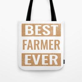 """""""Best Farmer Ever"""" Gardening Shirt For Gardeners T-shirt Design Hobby Garden Tractor Farm Rake Tote Bag"""