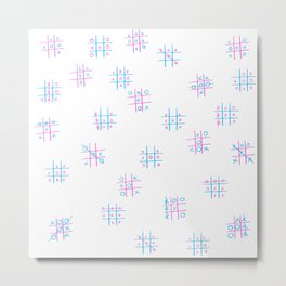TIC TAC TOE DESIGN Metal Print
