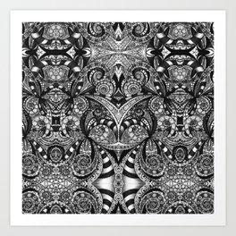 Drawing Floral Zentangle G6B Art Print