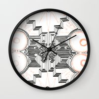 gatsby Wall Clocks featuring Gatsby Mandala by HRE.