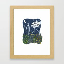 Sleep Tight, Little One Framed Art Print