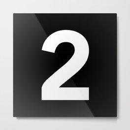 Number 2 (White & Black) Metal Print