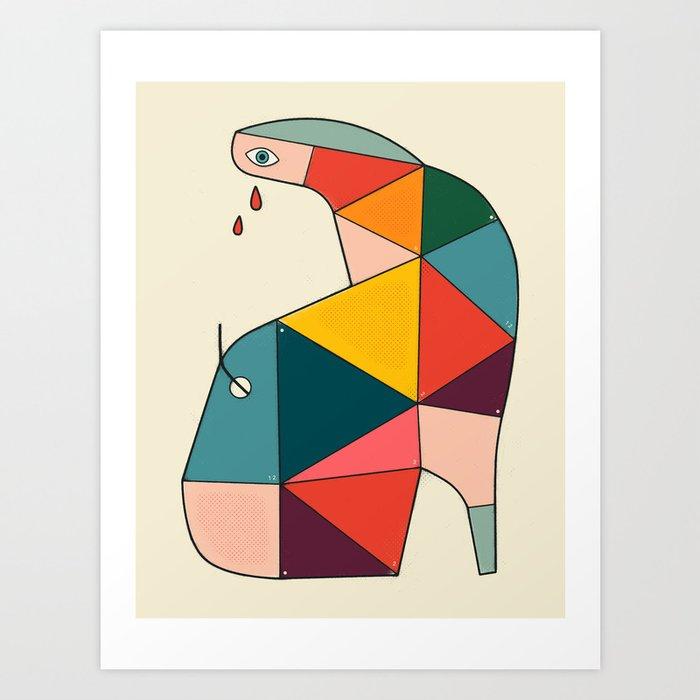 STRANGE BOOT Art Print