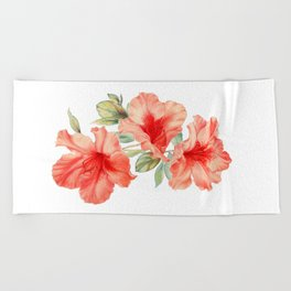 Azalea Painting Beach Towel