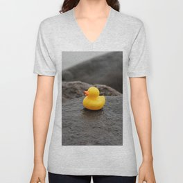 Deep Thoughts with Rubber Ducky Unisex V-Neck