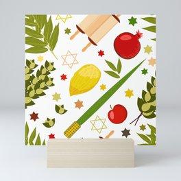 Sukkot pattern Mini Art Print
