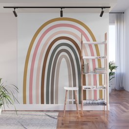 Whimsical Rainbow in Earthy Colors Wall Mural