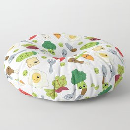 Cute Kawaii Food Pattern Floor Pillow
