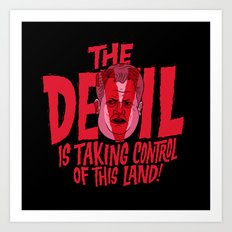 The Devil and Lee Bright  Art Print