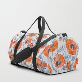 Poppies botanical art Duffle Bag