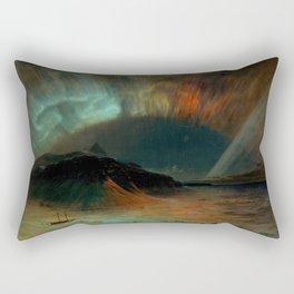 Aurora Borealis by Frederic Edwin Church Rectangular Pillow