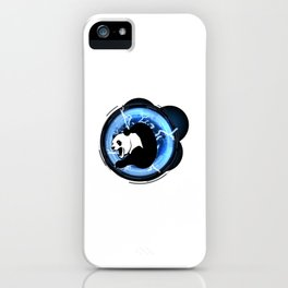 Angry Future Panda iPhone Case