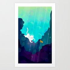 Ocean Cat Art Print