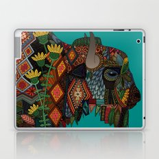 bison teal Laptop & iPad Skin