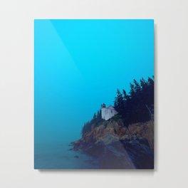 Bass Harbor Light Head Metal Print