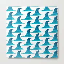 060 - Looking for the perfect wave pattern Metal Print