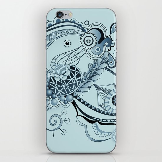 Spring tangle, colony blue iPhone & iPod Skin