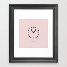 time resist Framed Art Print
