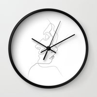 kiss Wall Clocks featuring Close by quibe
