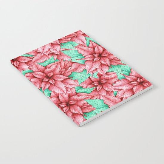 Poinsettia Pattern Notebook