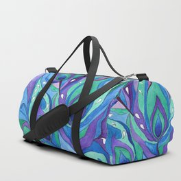 Watercolor . Abstraction . The peacock feather . 1 Duffle Bag