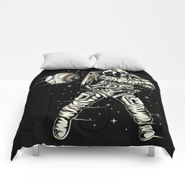 Space Baseball Astronaut Comforters