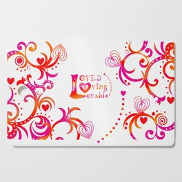 Loved. Loving, Lovable in Feng Shui Colours 2019 Cutting Board