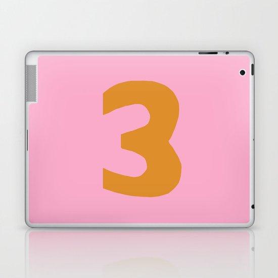 Number 3 Laptop & iPad Skin