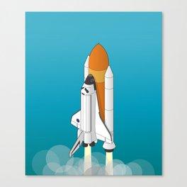 shuttle launch Canvas Print