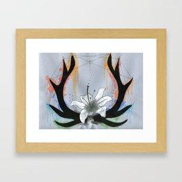 Blooming Antlers Framed Art Print