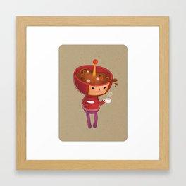 Cousin Miso Framed Art Print