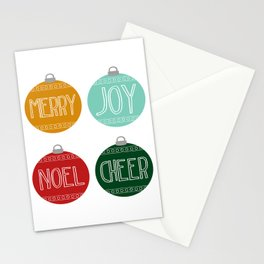 Midcentury Modern Ornaments Stationery Cards
