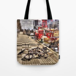 Bicycles in Rotterdam, Netherlands Tote Bag