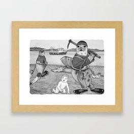 Commercial Man Hunt Framed Art Print