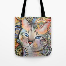 Aslan ... Abstract cat art Tote Bag