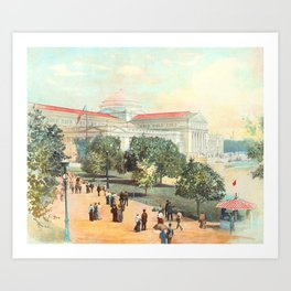 Stunning Vista of Chicago World's Fair Art Palace Art Print