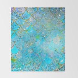 Mermaid Shimmer Throw Blanket