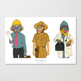 Monkeys for Kate Canvas Print