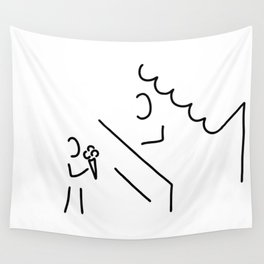 child eat waffle Wall Tapestry